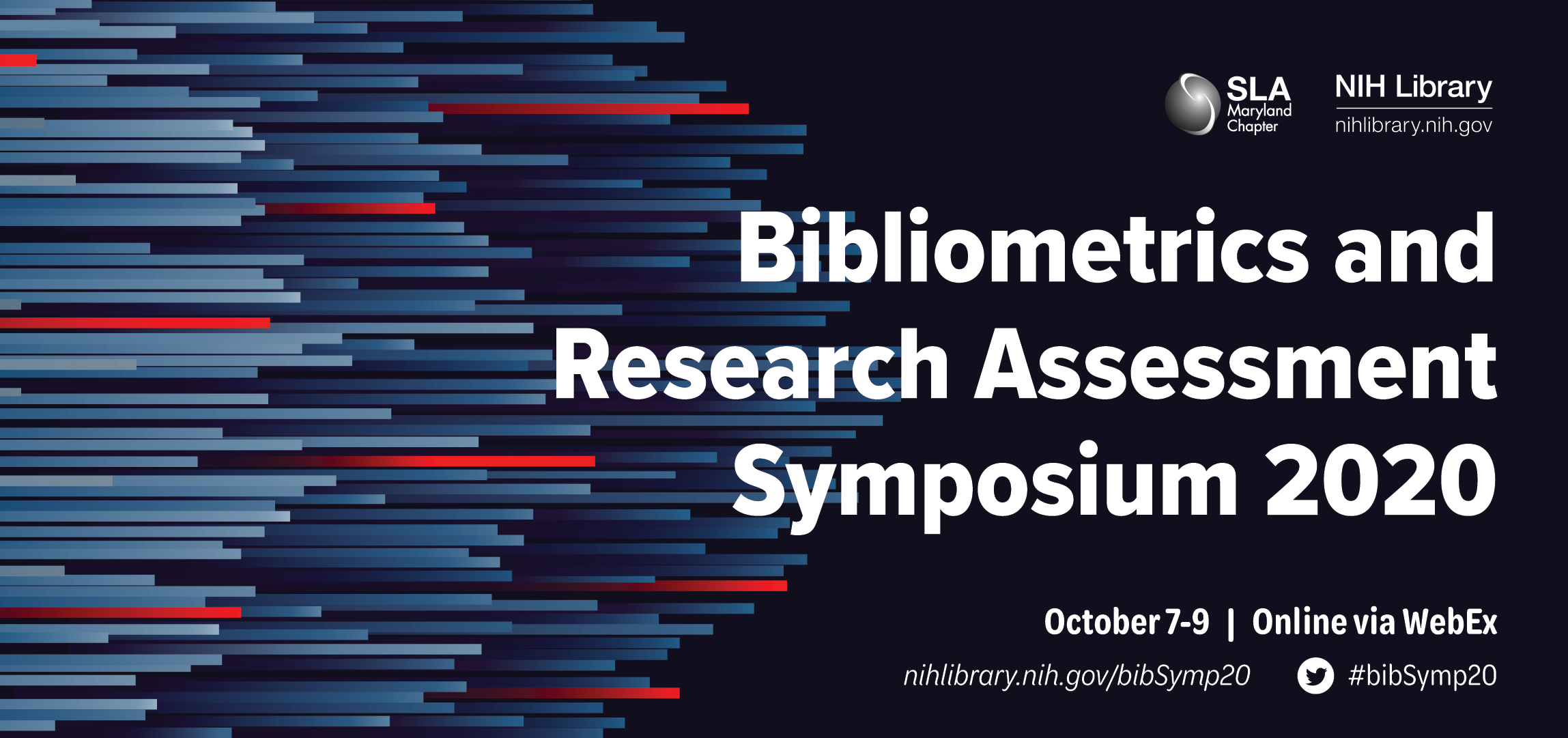 Banner for the 2020 bibliometrics and research assessment symposium
