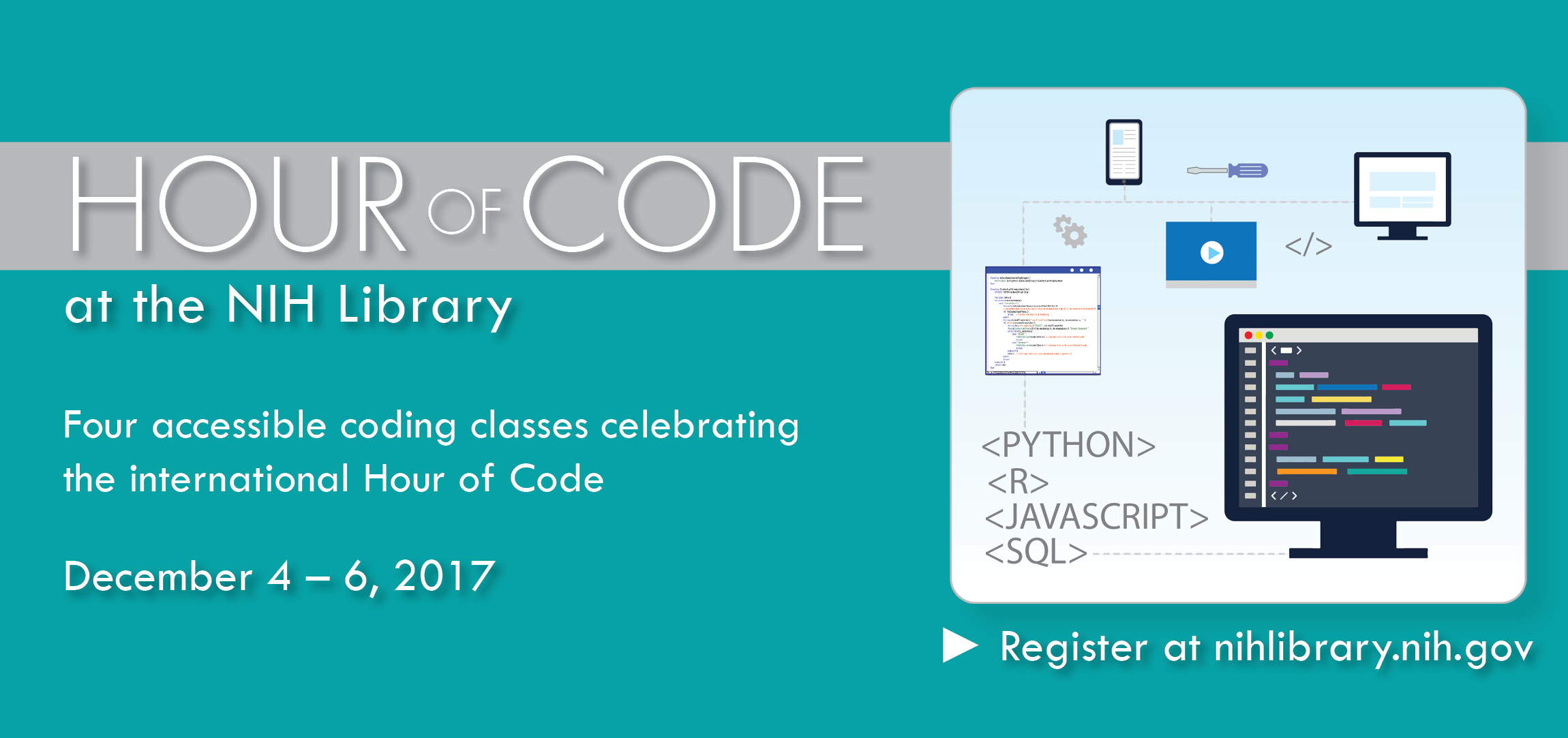 Hour of Code Classes at the NIH Library | NIH Library