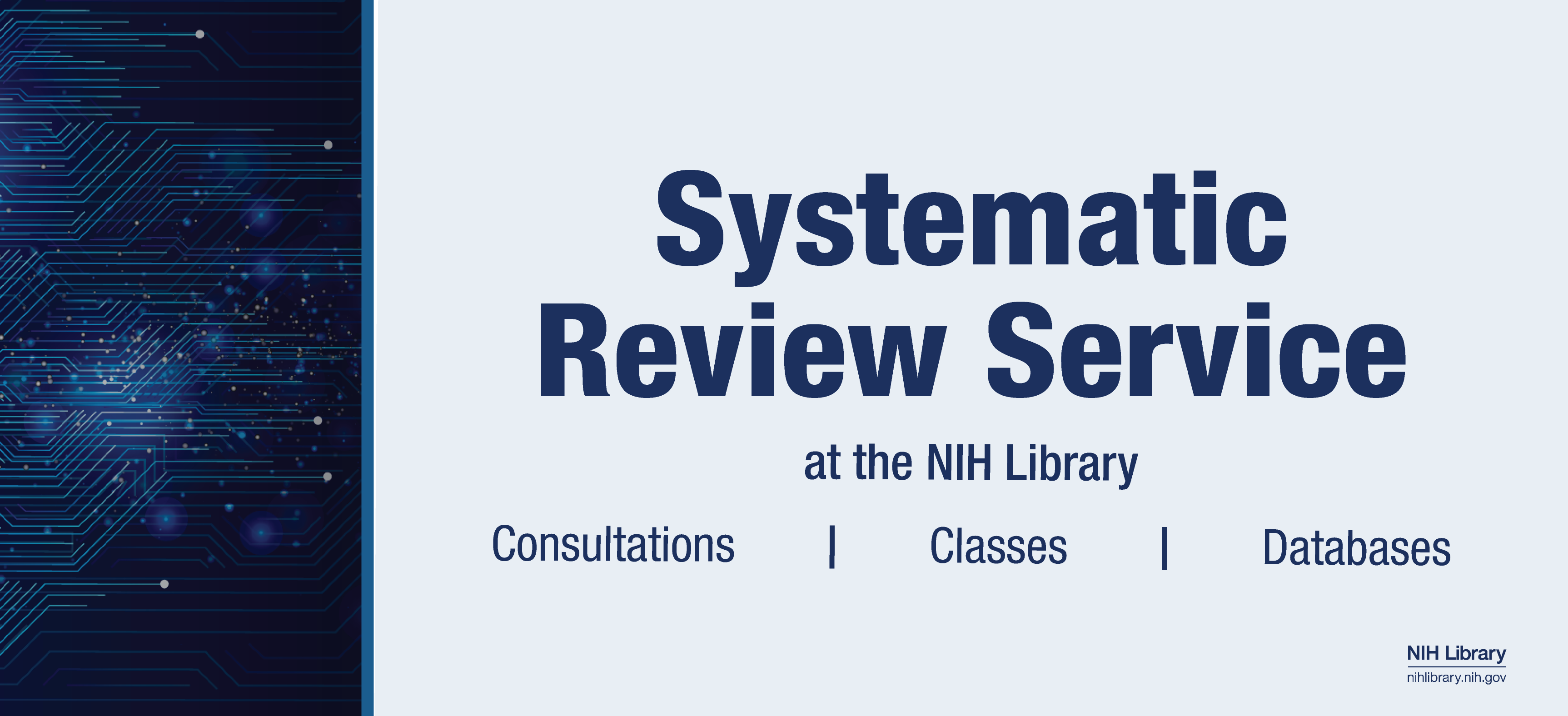 Systematic Review Services at the NIH Library