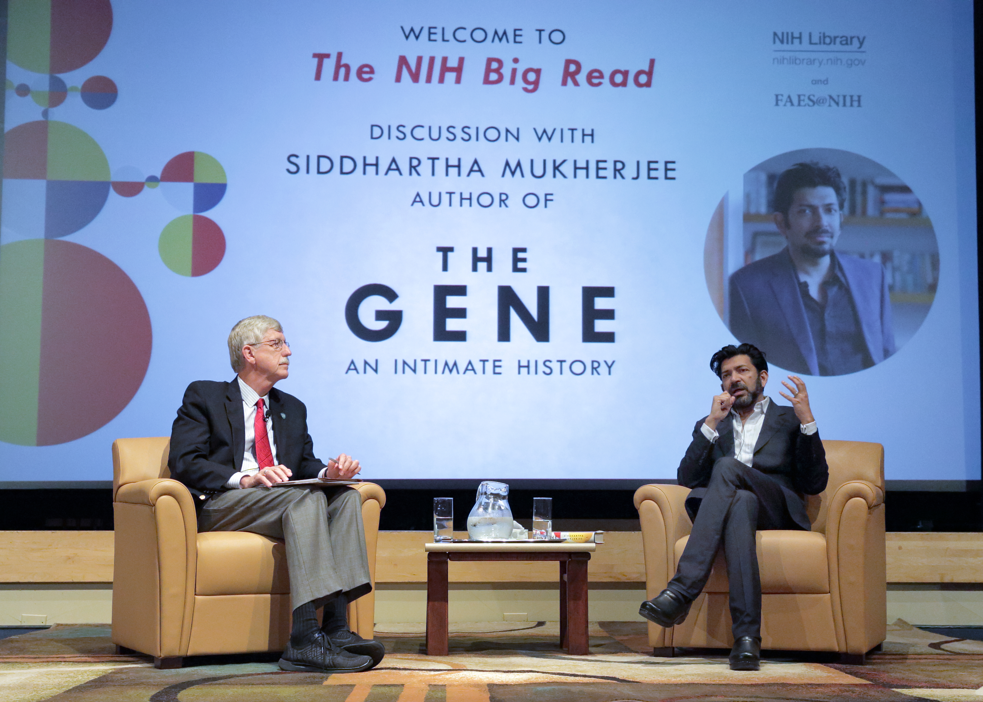 Dr. Collins discusses The Gene with Dr. Siddhartha Mukherjee